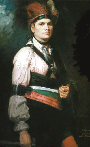 Joseph Brant painting by George Romney