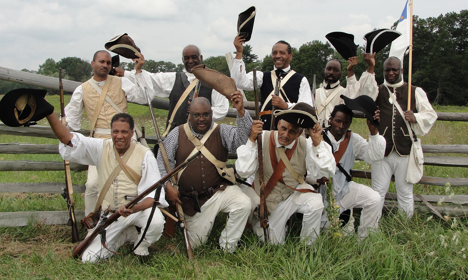 black soldiers at monmouth battlefield