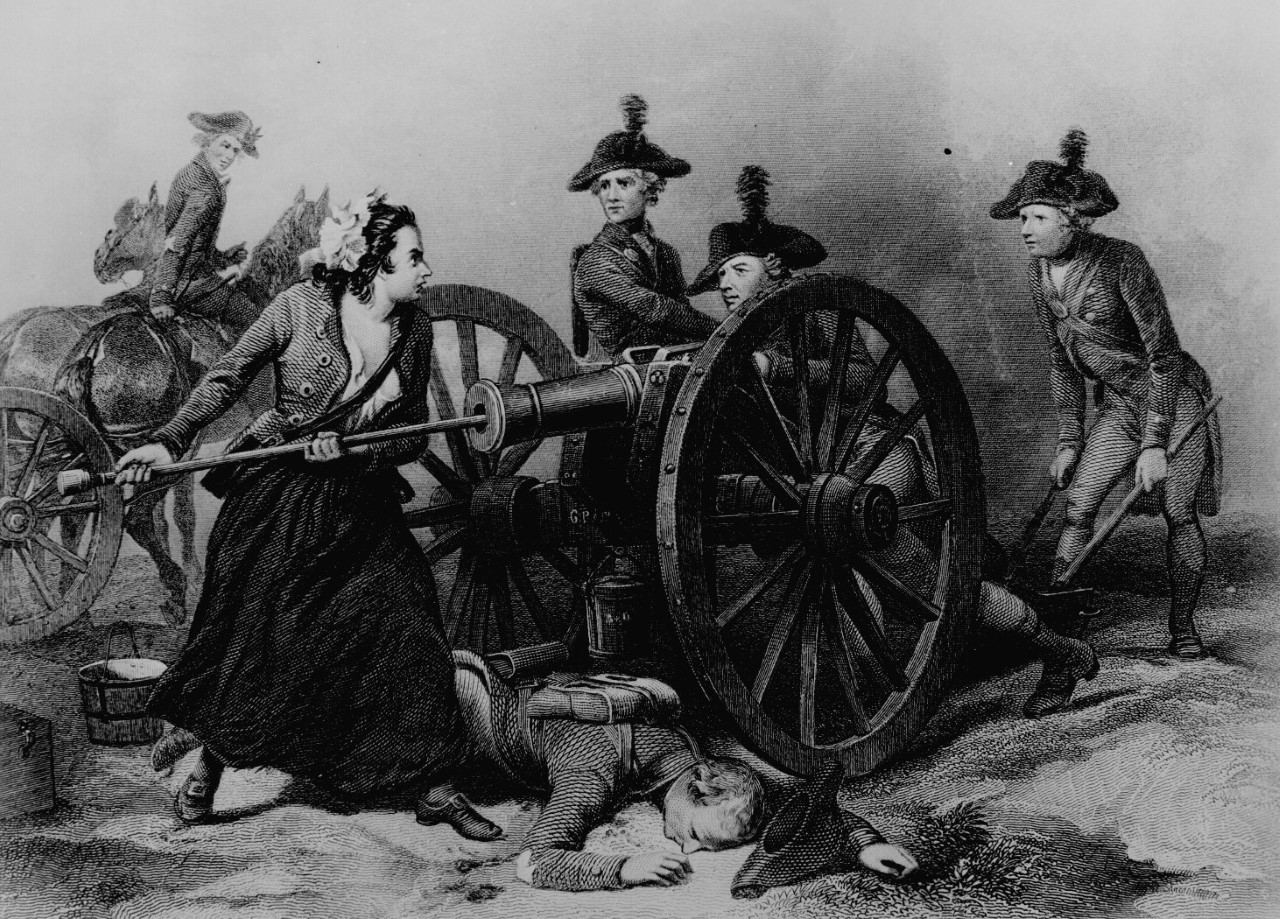woman loading a canon